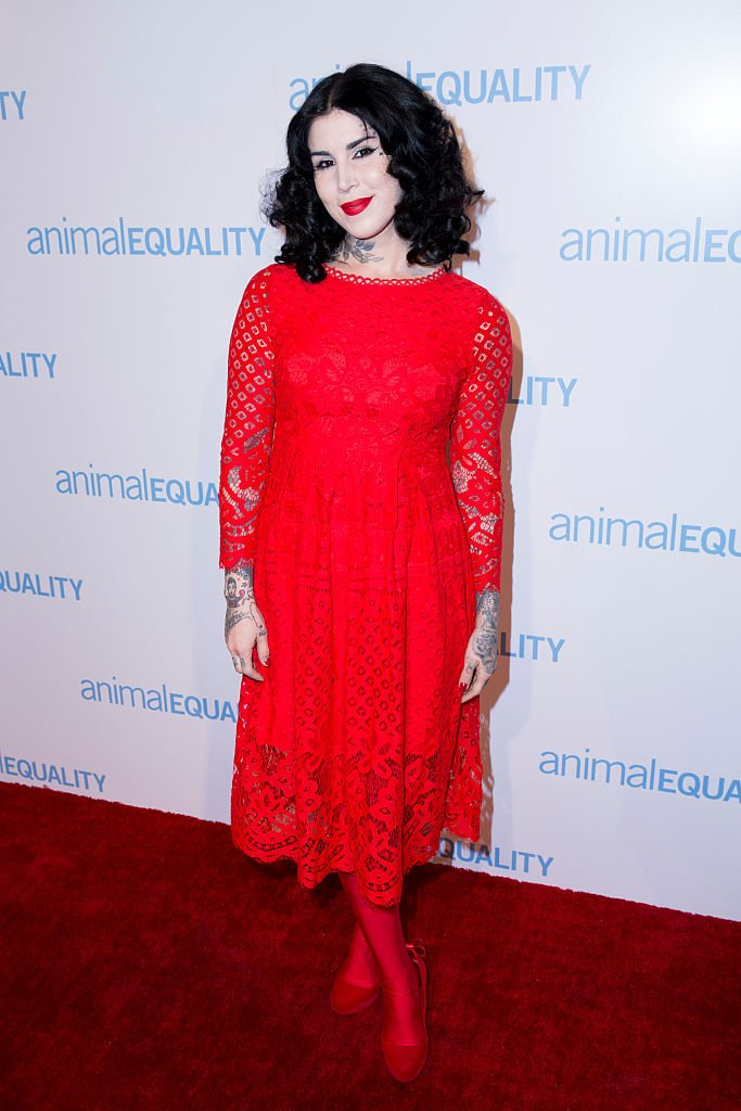 Image Credits: Getty Images / Alison Buck / WireImage | Kat Von D attends Animal Equality 10th Anniversary Celebration Honoring Moby at At The P on November 19, 2016 in Los Angeles, California.