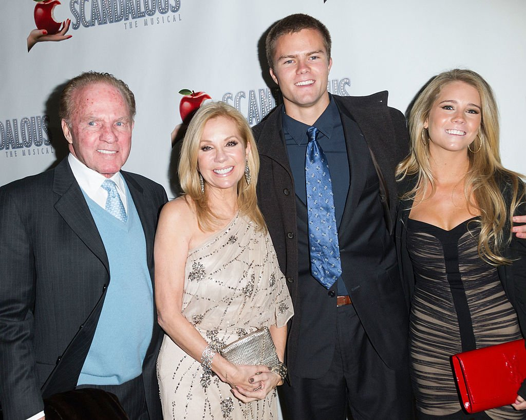 "Image Credits: Getty Images / Ben Hider | Frank Gifford, Kathie Lee Gifford, Cassidy Gifford and Cody Gifford attends the ""Scandalous"" Broadway Opening Night at Neil Simon Theatre on November 15, 2012 in New York City."