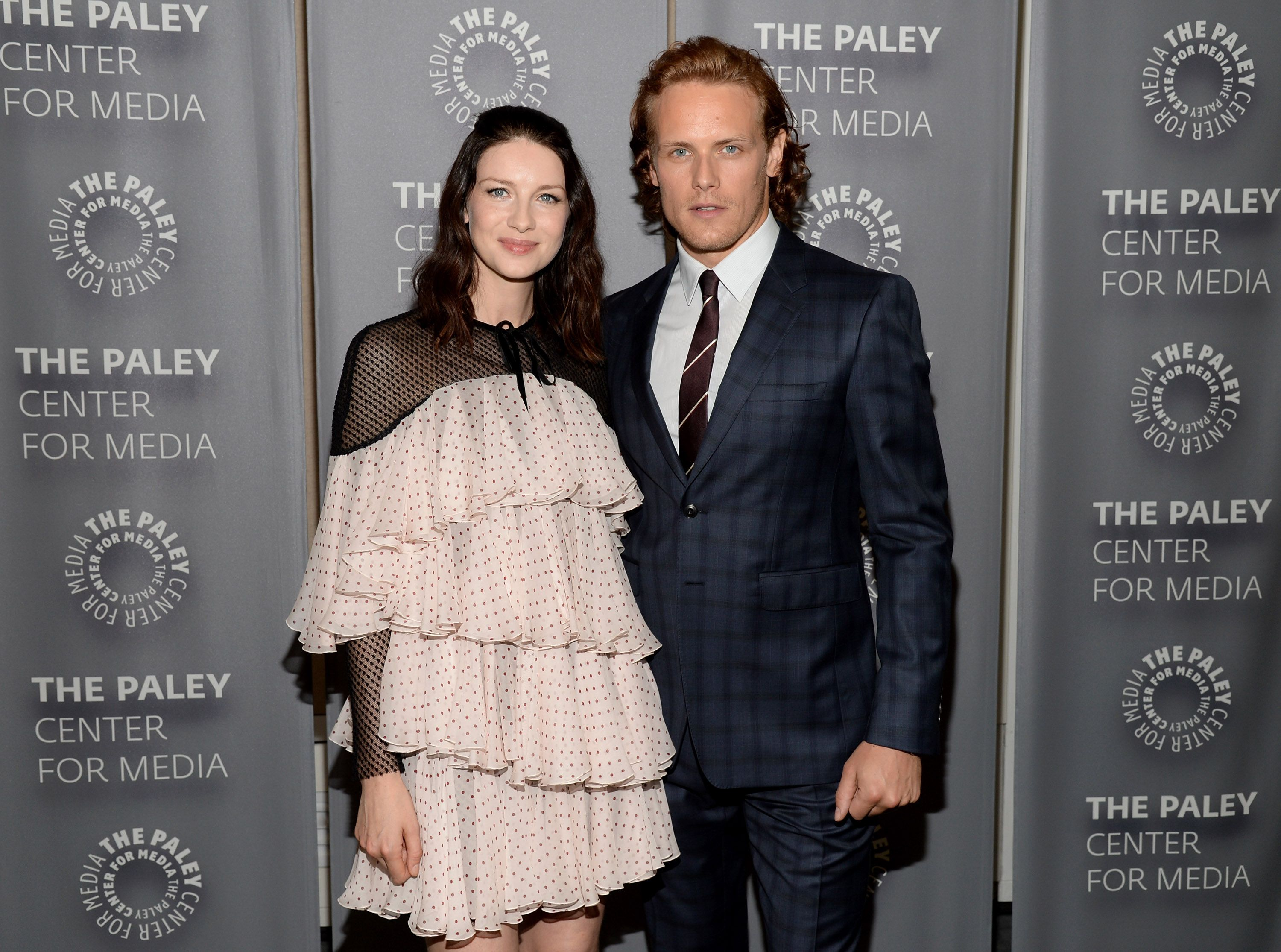 Caitriona Balfe and Sam Heughan on June 6, 2016 in Beverly Hills / Getty Images