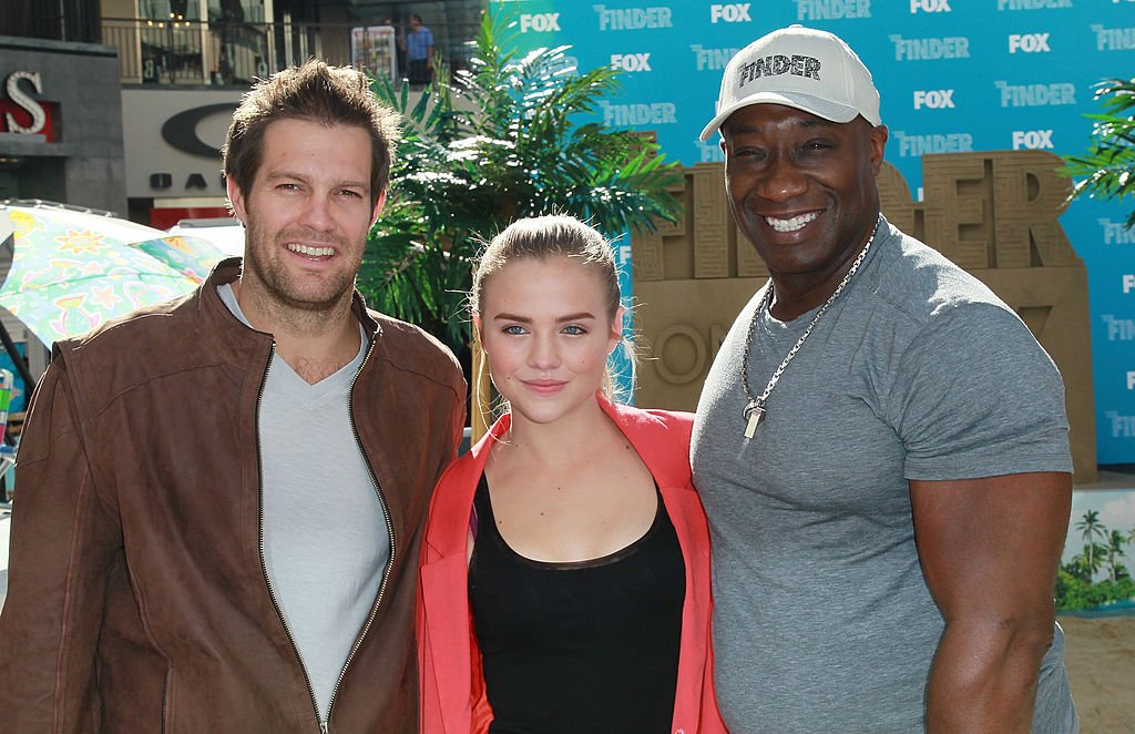 "Image Credit: Getty Images / Actors Geoff Stults, Maddie Hasson and Michael Clarke Duncan attend Fox's ""The Finder"" Challenge at Hollywood & Highland Courtyard on January 9, 2012 in Hollywood, California."