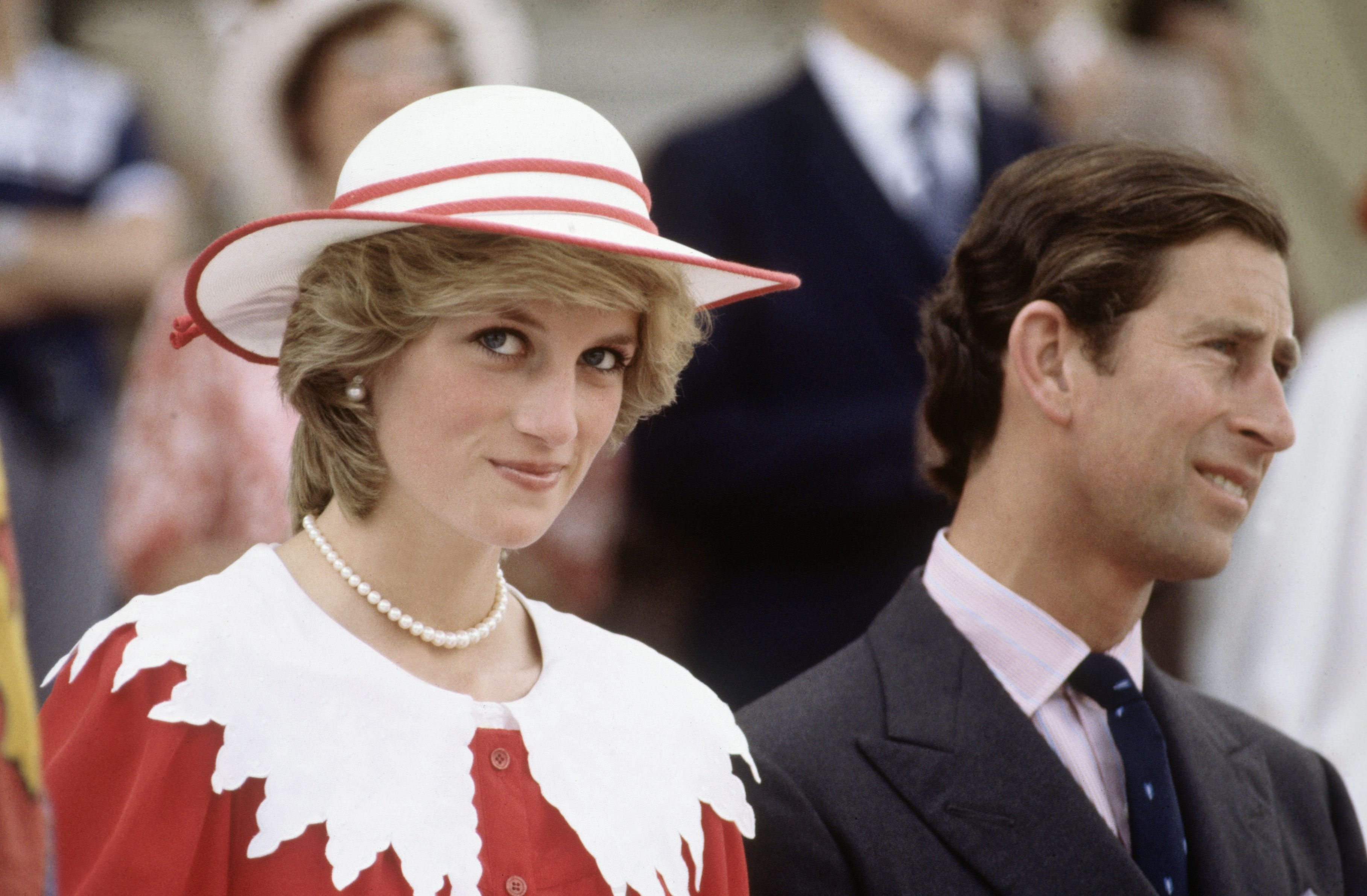Image Source: Getty Images/David Levenson | Diana Princess of Wales and Prince Charles during the Royal Tour of Canada