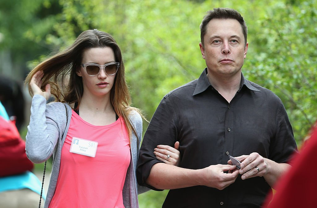 Image Credit: Getty Images / Elon Musk, CEO and CTO of SpaceX, CEO and product architect of Tesla Motors, and chairman of SolarCity, and his wife Talulah Riley attend Conference on July 8, 2015 in Sun Valley, Idaho.