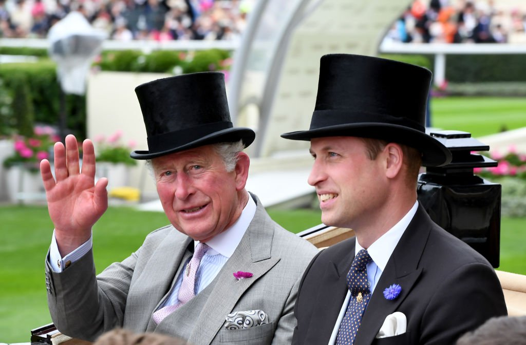 Image Credit: Getty Images / Prince Charles, Prince Wales and Prince William, Duke of Cambridge arrive at the Royal Ascot on June 18, 2019 in Ascot, England.