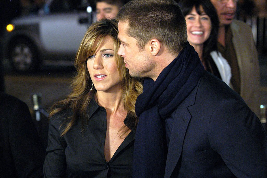 "Image Credit: Getty Images / ""Along Came Polly"" Premiere on the Red Carpet Are Jennifer Aniston and Brad Pitt."