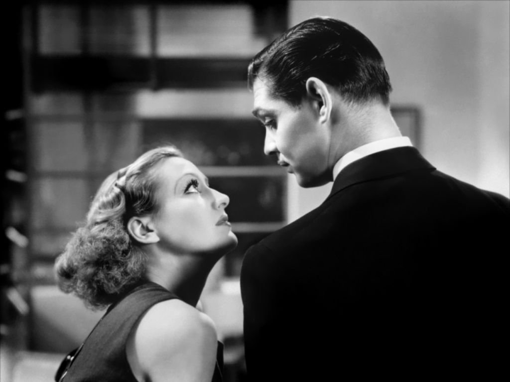 "Image Credit: Getty Images / Actress Joan Crawford and Clark Gable in a scene from the movie ""Dancing Lady."""