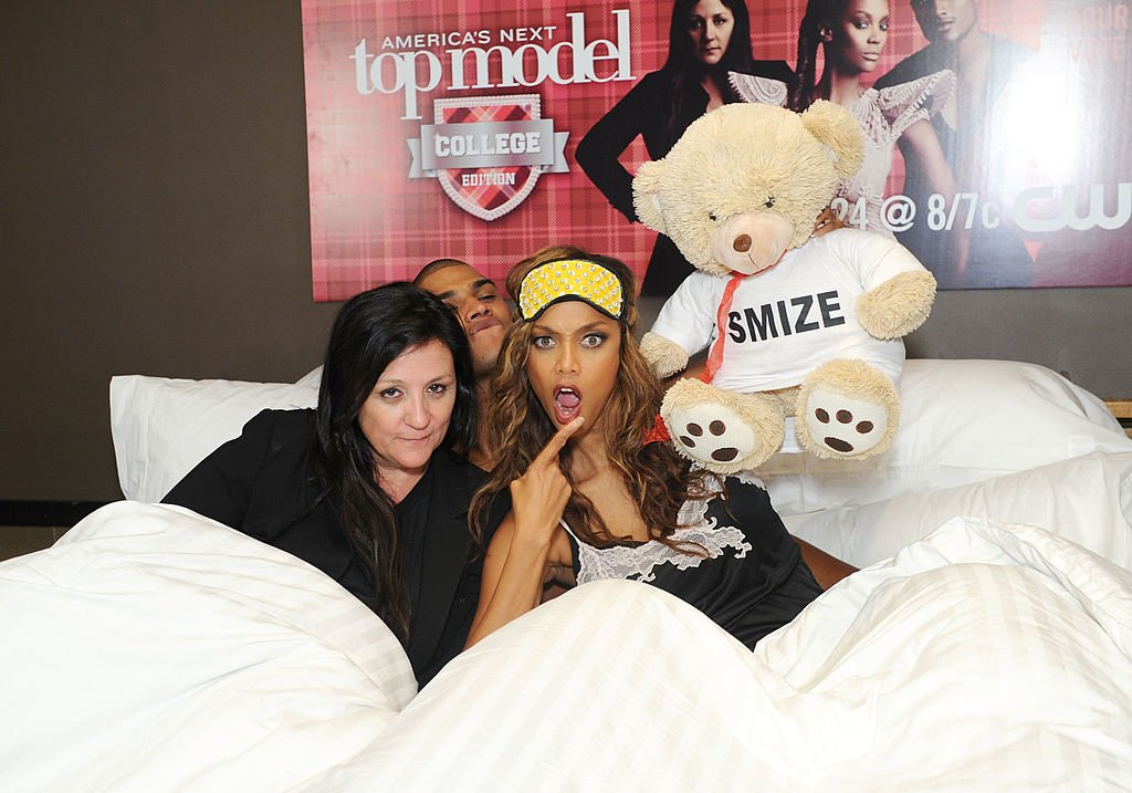 """Image Credit: Getty Images / Kelly Cutrone, Rob Evans and Tyra Banks attend the """"America's Next Top Model: College Edition, Cycle 19"""" Premiere at the Tribeca Grand Hotel on August 22, 2012."""