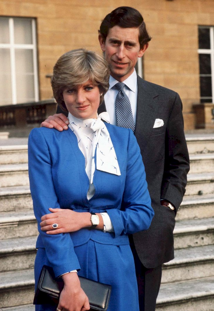 Image Credit: Getty Images / Prince Charles and Lady Diana Spencer on the day of their engagement.