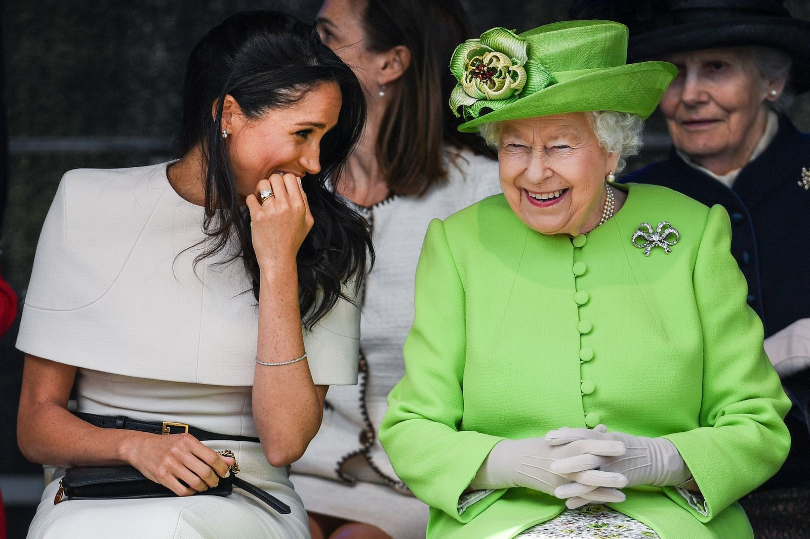 Meghan Markle and Queen Elizabeth II/Photo:Getty Images