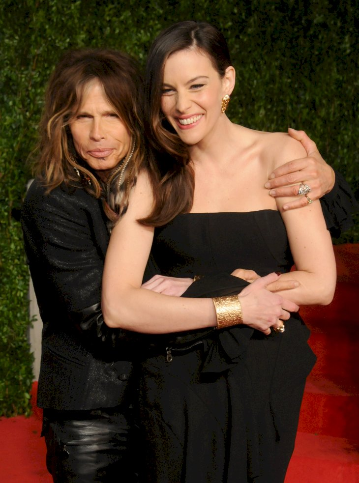 Image Credit: Getty Images / Liv Tyler with her father, Steven Tyler.