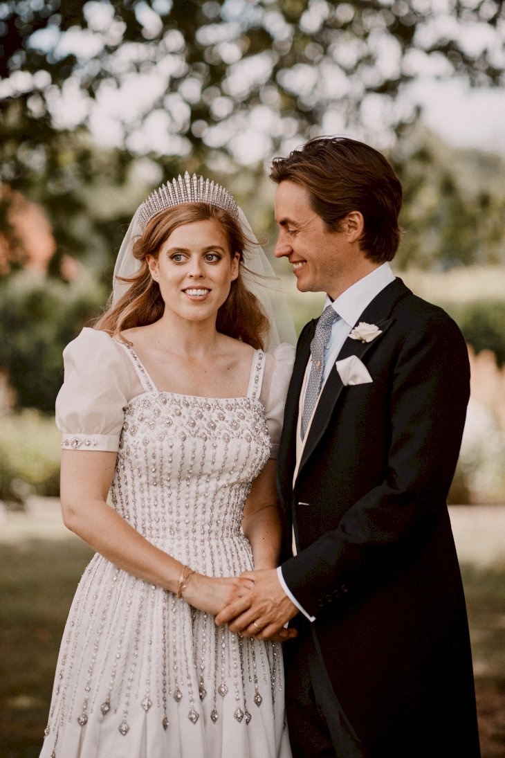 Image Credit: Getty Images / Princess Beatrice of York with her husband, Edoardo Mapelli Mozzi, on their wedding day.