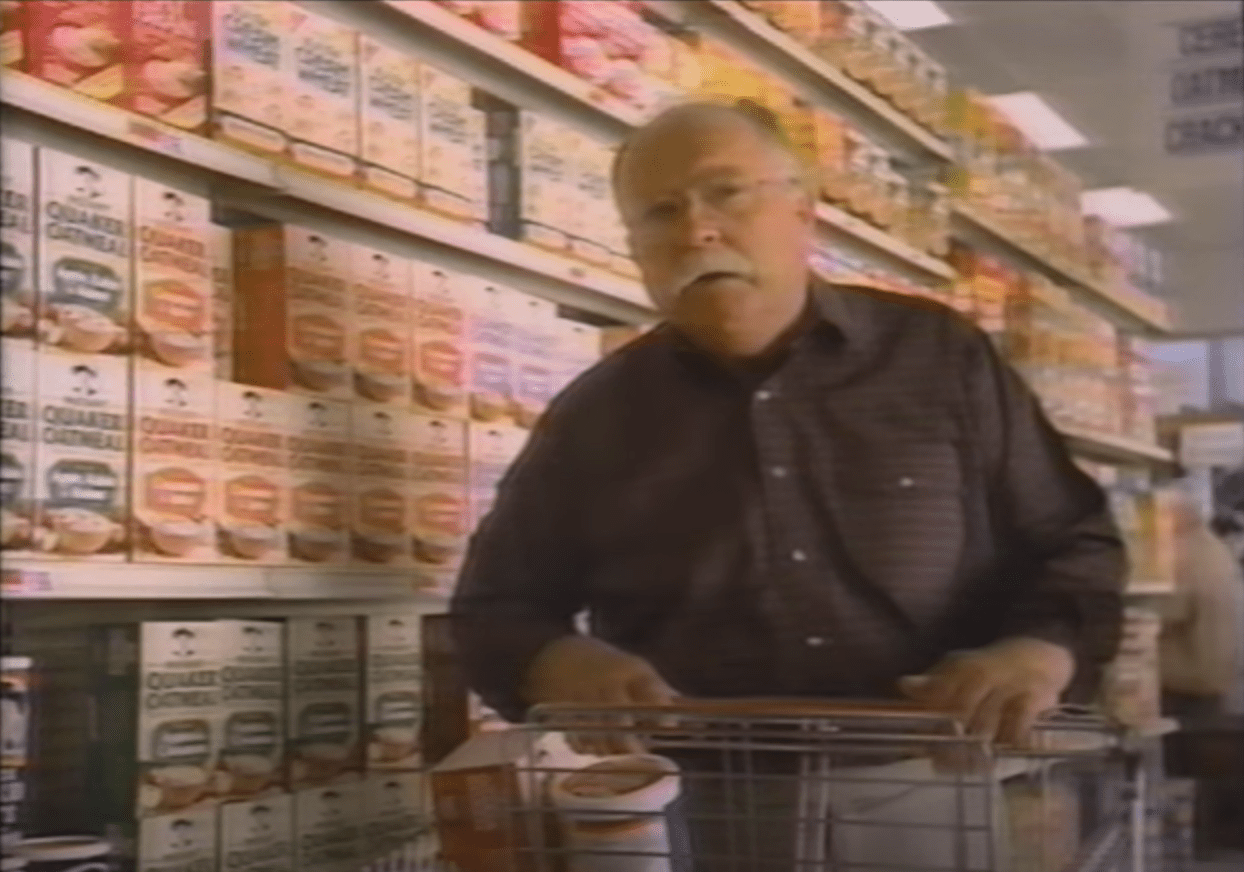 Image Source: Youtube/video editor | Wilford in a Quaker Oats commercial