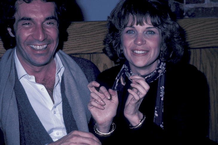 """Bill Hudson and Cindy Williams during """"Hysterical"""" Wrap Party at Sagebrush Casita Restaurant in Los Angeles, California, on February 1, 1982.   Photo: Getty Images."""