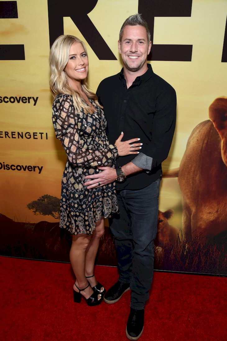"Image Source: Getty Images/Getty Images for Discovery Channel/Michael Kovac |  Christina Anstead and Ant Anstead attend Discovery's ""Serengeti"" premiere at Wallis Annenberg Center for the Performing Arts"
