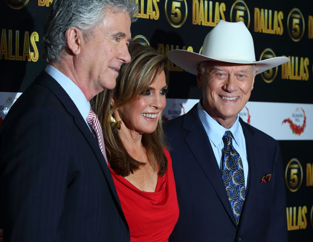 Image Credit: Getty Images / Larry Hagman (R), Patrick Duffy and Linda Grey attend the Dallas launch party on August 21, 2012 in London, United Kingdom.