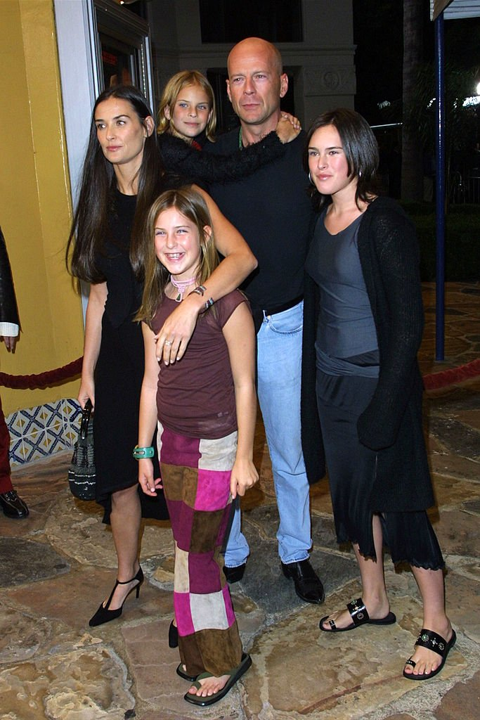 Image Source: Getty Images/Bruce and Demi with their three daughters