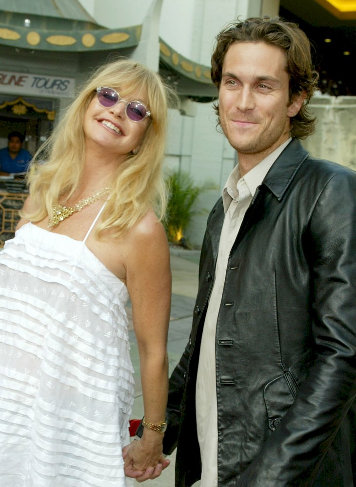 Image Credit: Getty Images / Goldie Hawn with her oldest son, Oliver Hudson.