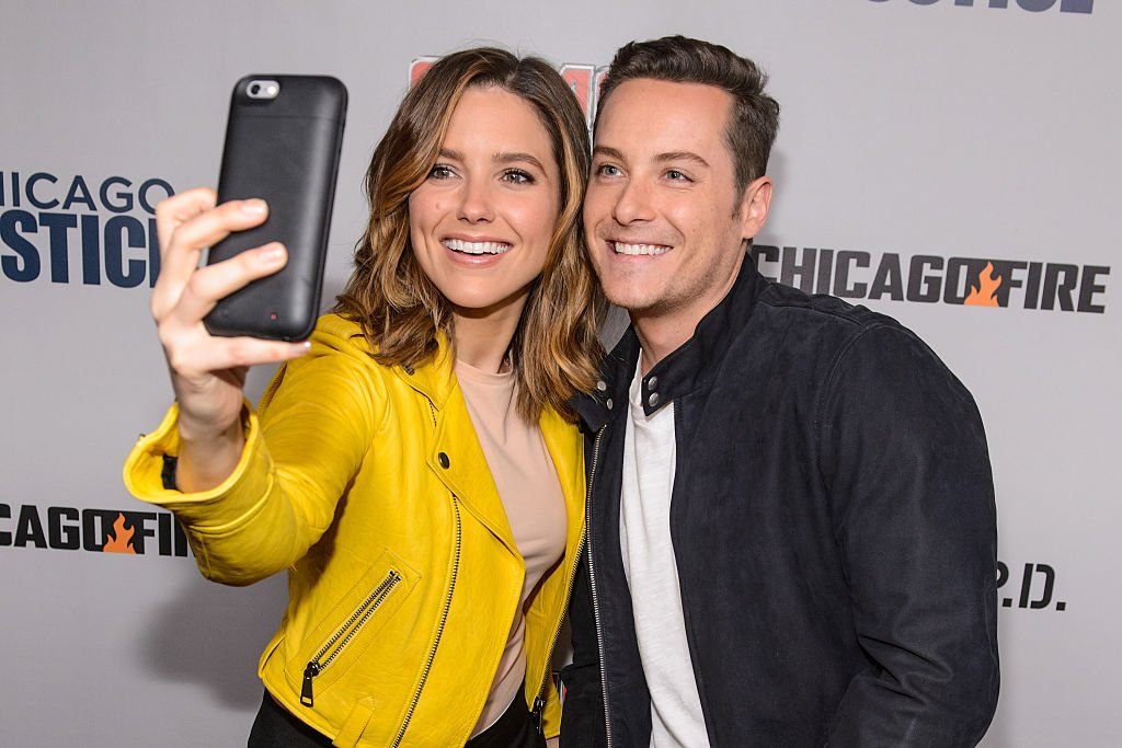 Image Credit: Getty Images / Sophia Bush and Jesse Lee Soffer take a selfie together during NBC's Chicago series press day on October 24, 2016 in Chicago, Illinois.