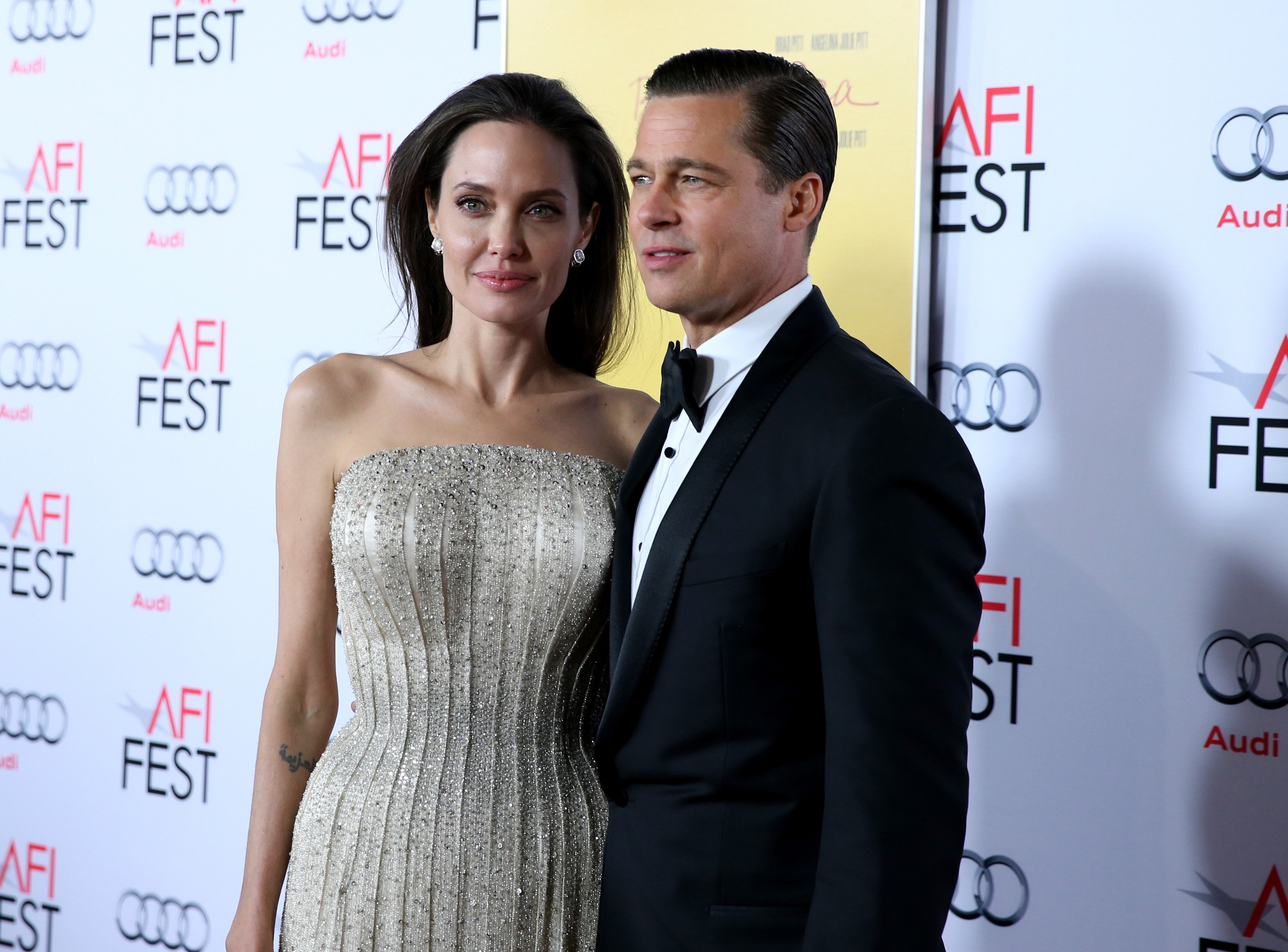 Image Credit: Getty Images /Jonathan Leibson | Brad and Angelina at AFI Fest 2015 by Audi