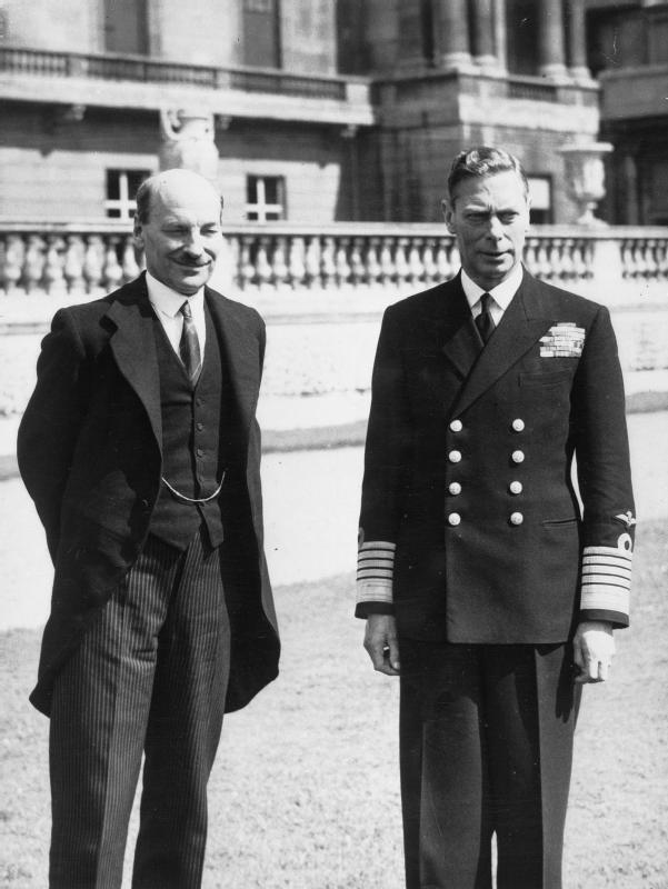 Image Source: Wikimedia Commons/Public Domain/George VI and British prime minister Clement Attlee