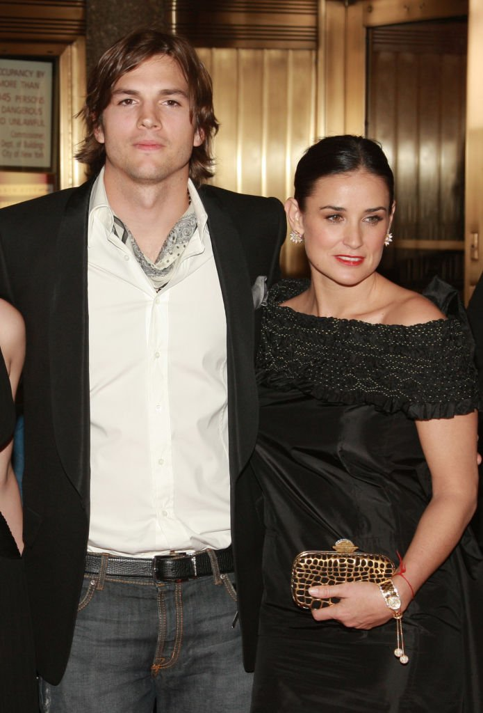 """Image Source: Getty Images/Evan Agostini/Actors Demi Moore and Ashton Kutcher attend the premiere of """"Live Free Or Die Hard"""" presented by Twentieth Century Fox at Radio City Music Hall on June 22, 2007 in New York City"""