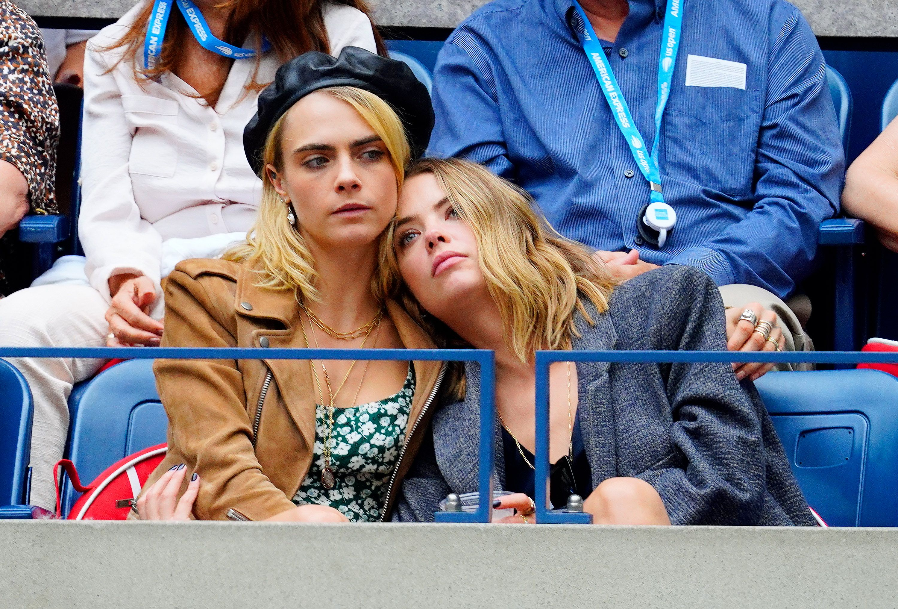Cara Delevingne and Ashley Benson attend the 2019 US Open Women's final / Getty Images