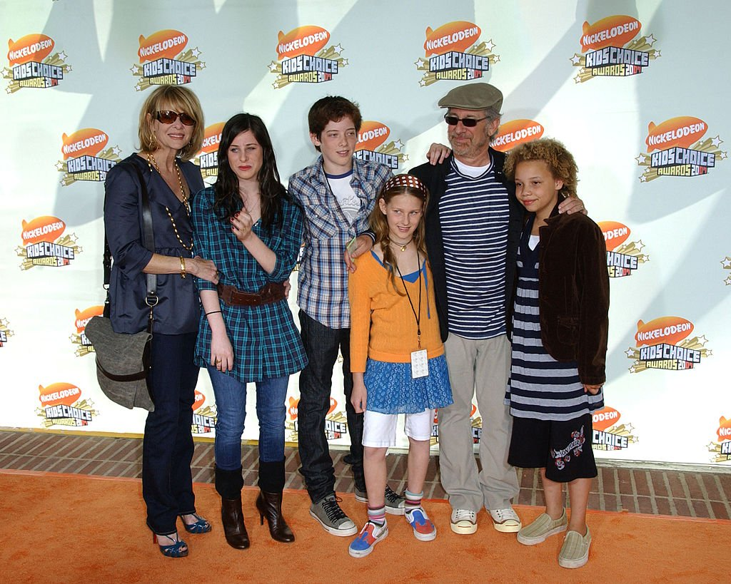 Image Source: Getty Images/Albert L. Ortega/Kate Capshaw, Steven Spielberg with children during Nickelodeon's 20th Annual Kids' Choice Awards - Arrivals at Pauley Pavilion in Westwood, California, United States