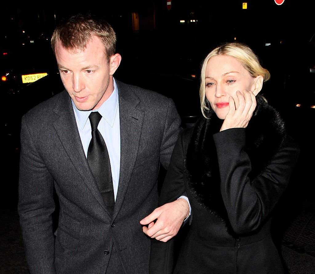 Image Credit: Getty Images / Madonna and Guy Ritchie arrive at Harry's, Mayfair on March 18, 2008 in London, England.