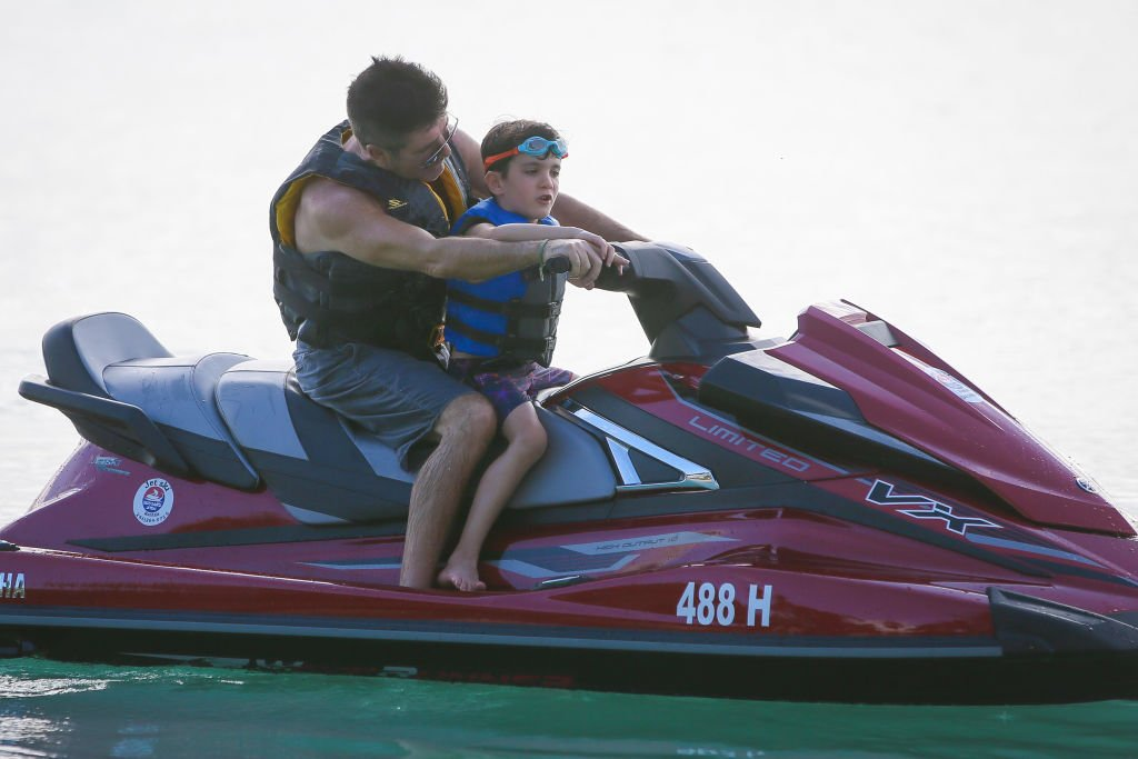 Image Credit: Getty Images / Simon Cowell is seen with his son Eric Cowell on December 22, 2019 in Bridgetown, Barbados.