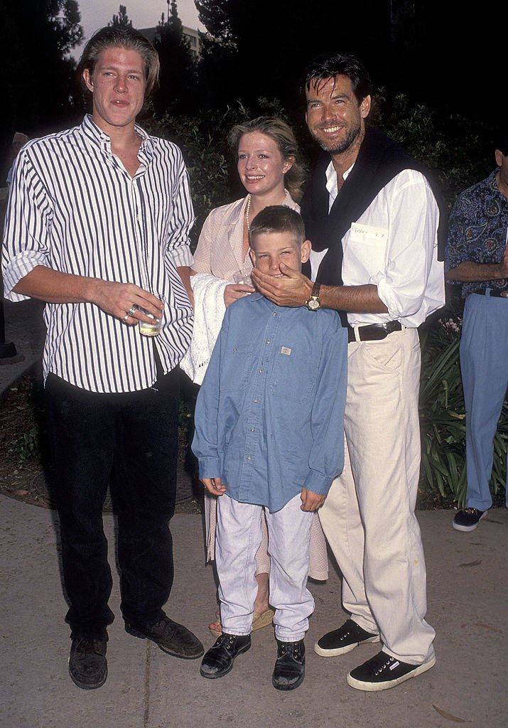Image Source: Getty Images/Ron Galella Collection via Getty Images/Ron Galella, Ltd. | Brosnan with his children at a charity event for cancer