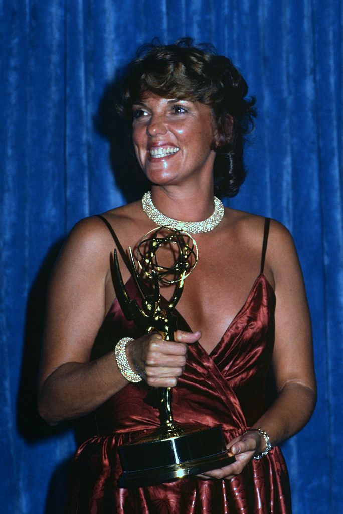Image Credits: Getty Images / Joan Adlen | Tyne Daily with her Emmy