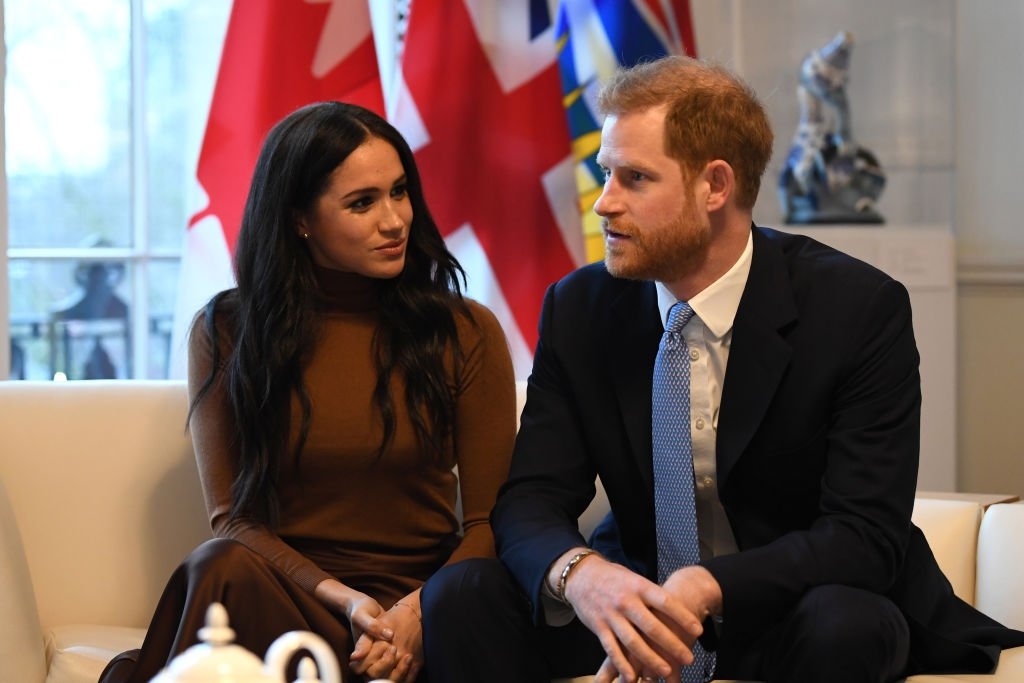 Image Credit: Getty Images / Prince Harry, Duke of Sussex and Meghan, Duchess of Sussex gesture during their visit to Canada House on January 7, 2020 in London, England.