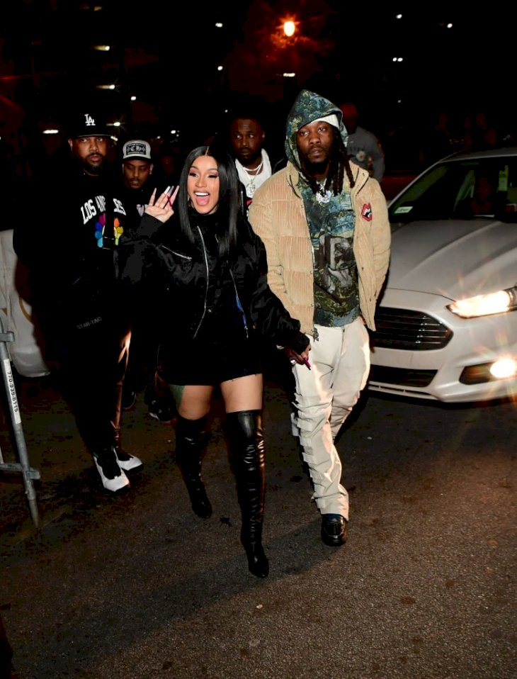 Image Credit: Getty Images / Cardi B and her former husband, Offset are photographed.