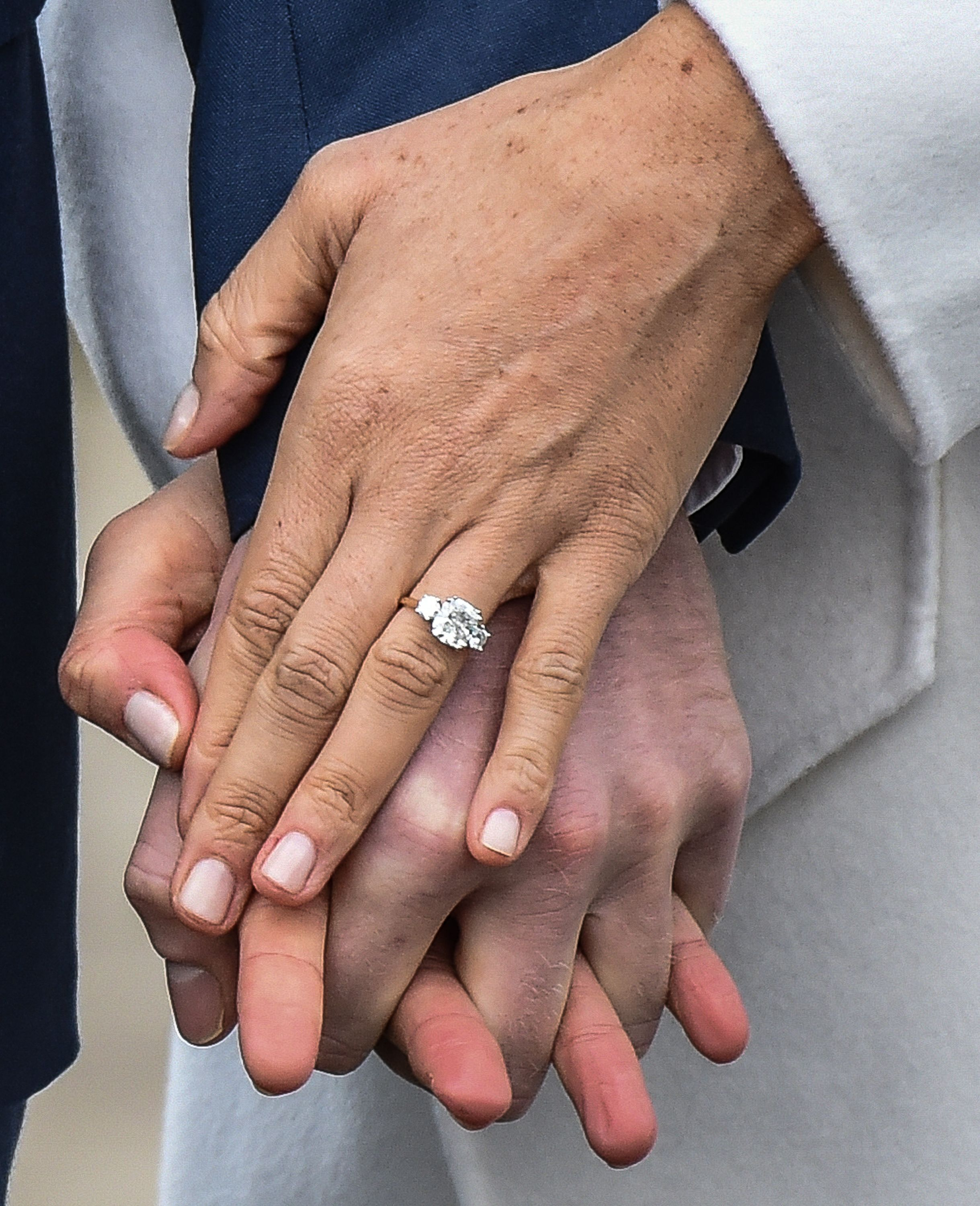 Meghan Markle's engagement ring / Getty Images