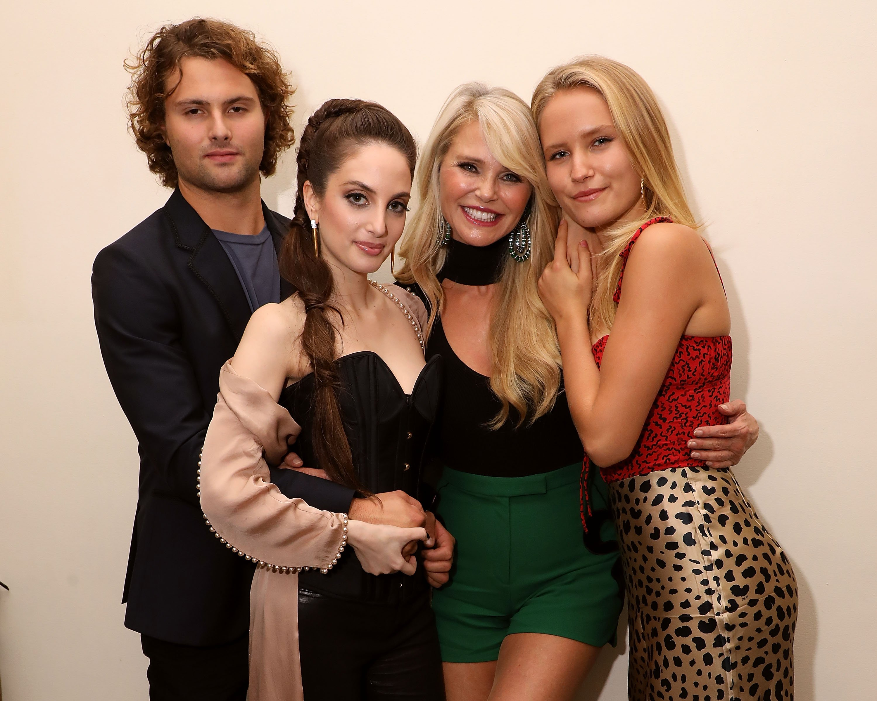 Image Credits: Getty Images / Taylor Hill | Jack Brinkley-Cook, Alexa Ray Joel, Christie Brinkley, and Sailor Lee Brinkley-Cook celebrate the opening night of Alexa Ray Joel's 2018 residency at Cafe Carlyle on September 25, 2018 in New York City.
