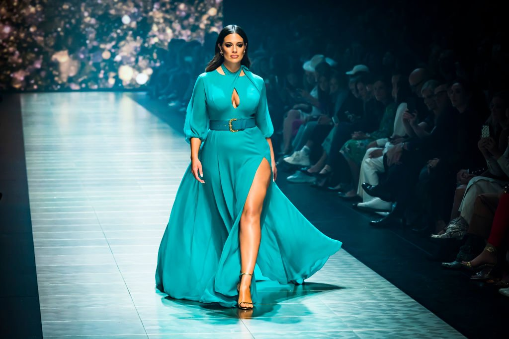 Image Credit: Getty Images / US model Ashley Graham showcases designs by Jason Grech at Melbourne Fashion Festival on March 7, 2019 in Melbourne, Australia.