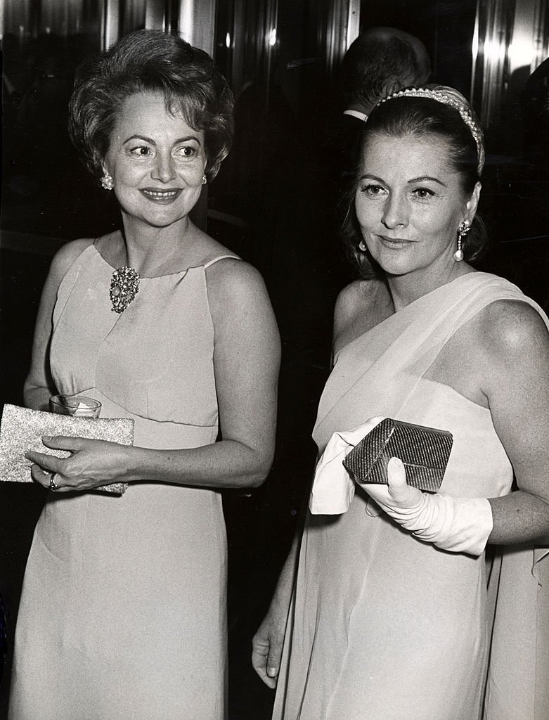 Image Credits: Getty Images / Ron Galella/Ron Galella Collection | Olivia de Havilland and sister Joan Fontaine during Marlene Dietrich's Opening Party - September 9, 1967