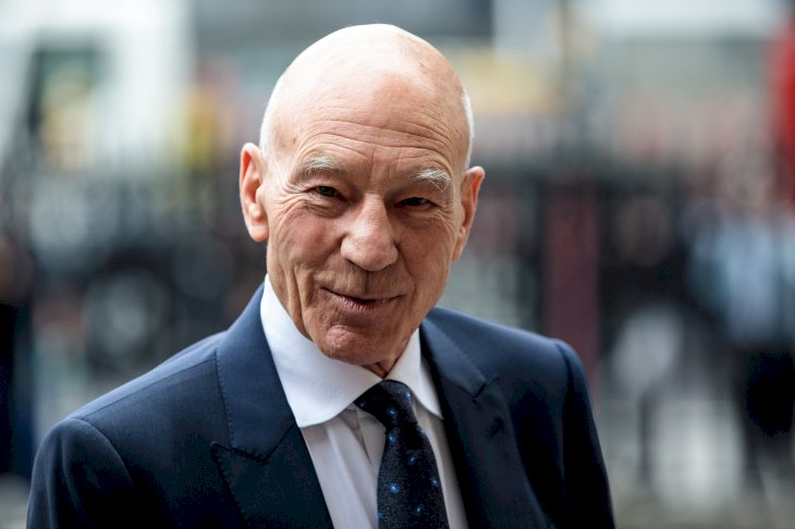 Image Credit: Getty Images/Jack Taylor Sir Patrick Stewart arrives at Westminster Abbey for a memorial service for theatre great Sir Peter Hall OBE