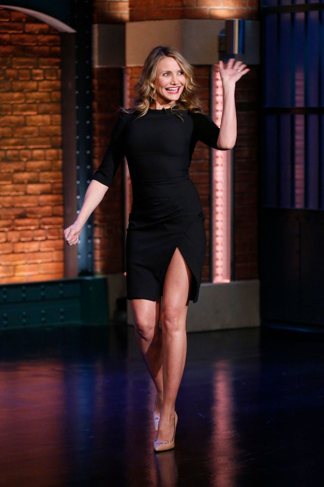 LATE NIGHT WITH SETH MEYERS -- Episode 0138-- Pictured: Actress Cameron Diaz arrive, 2014/ Photo:Getty Images