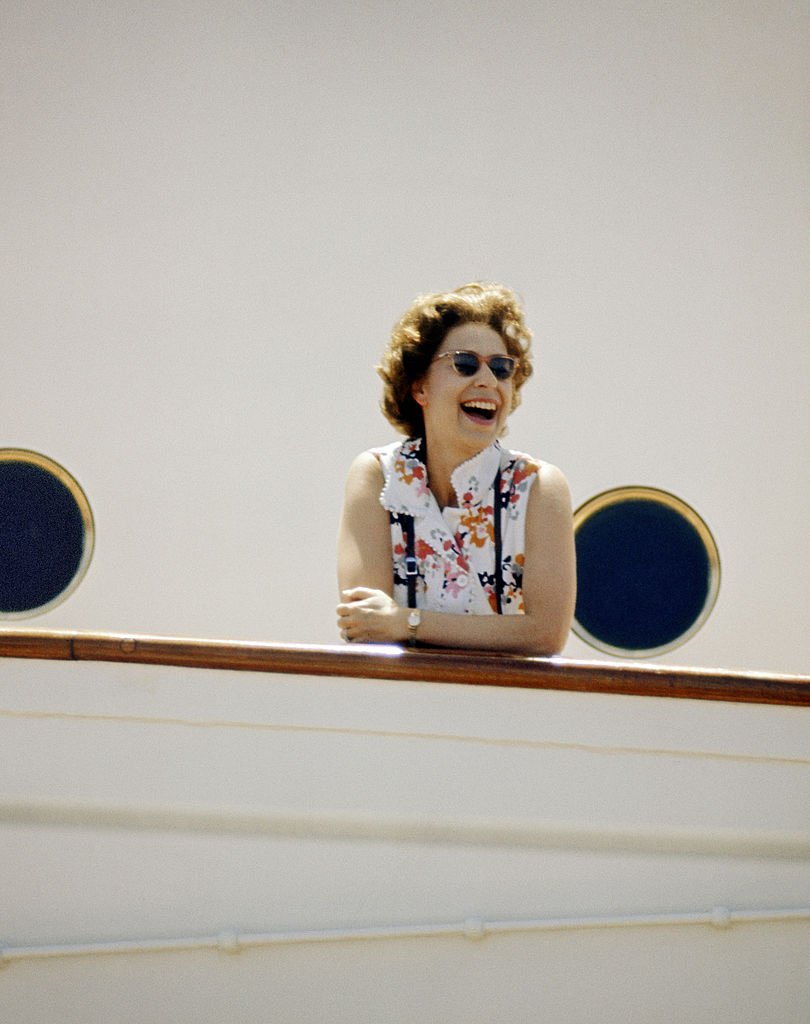 Image Source: Getty Images/Lichfield/HM The Queen on board HMY Britannia in March 1972. Part of a series of photographs taken for use during the Silver Wedding Celebrations in 1972