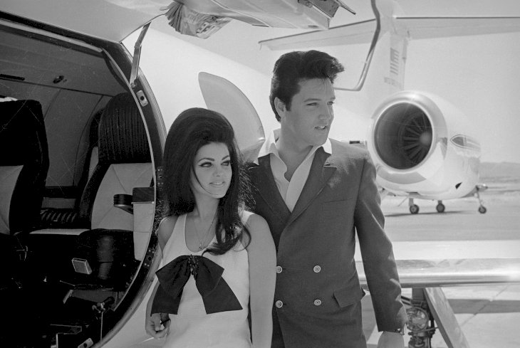Image Credit: Getty Images | Newlyweds Elvis and Priscilla Presley who met when Priscilla was a minor in Germany