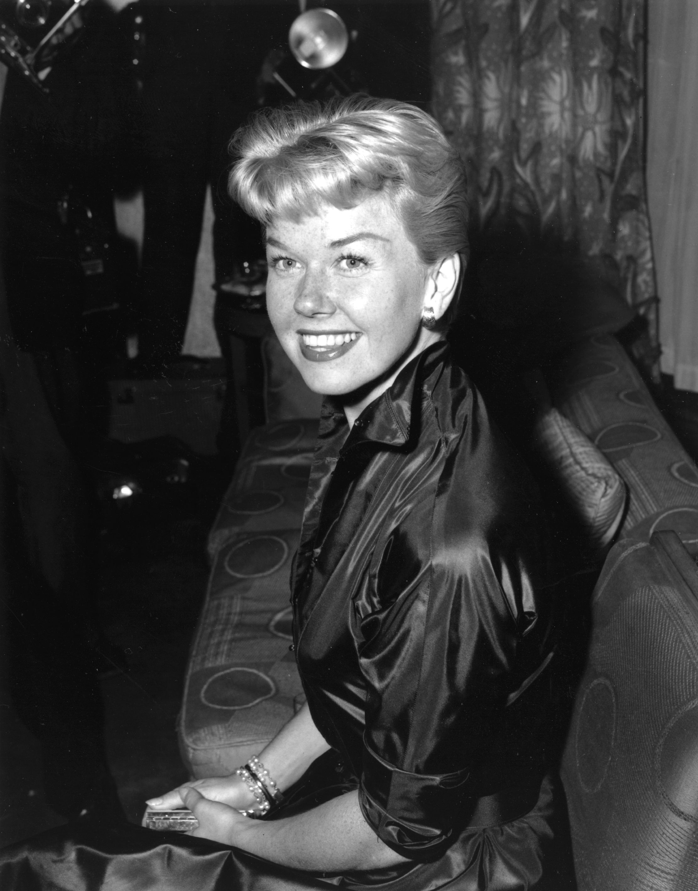 Image Credits: Getty Images / Keystone | American singer-actress Doris Day (originally Doris Von Kappelhoff) attending a reception at Claridges Hotel in London, April 1955.