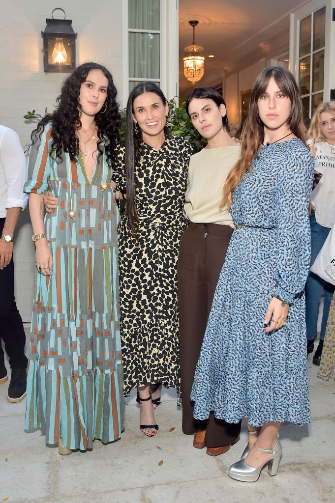 Image Credits: Getty Images / Stefanie Keenan | (L-R) Rumer Willis, Demi Moore, Tallulah Willis and Scout Willis attend Demi Moore's 'Inside Out' Book Party on September 23, 2019 in Los Angeles, California.
