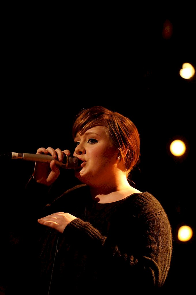 Image Credit: Getty Images / Adele performs at the Brit Awards 2008 Nominations Launch Party at the Roundhouse on January 14, 2007 in London, England.