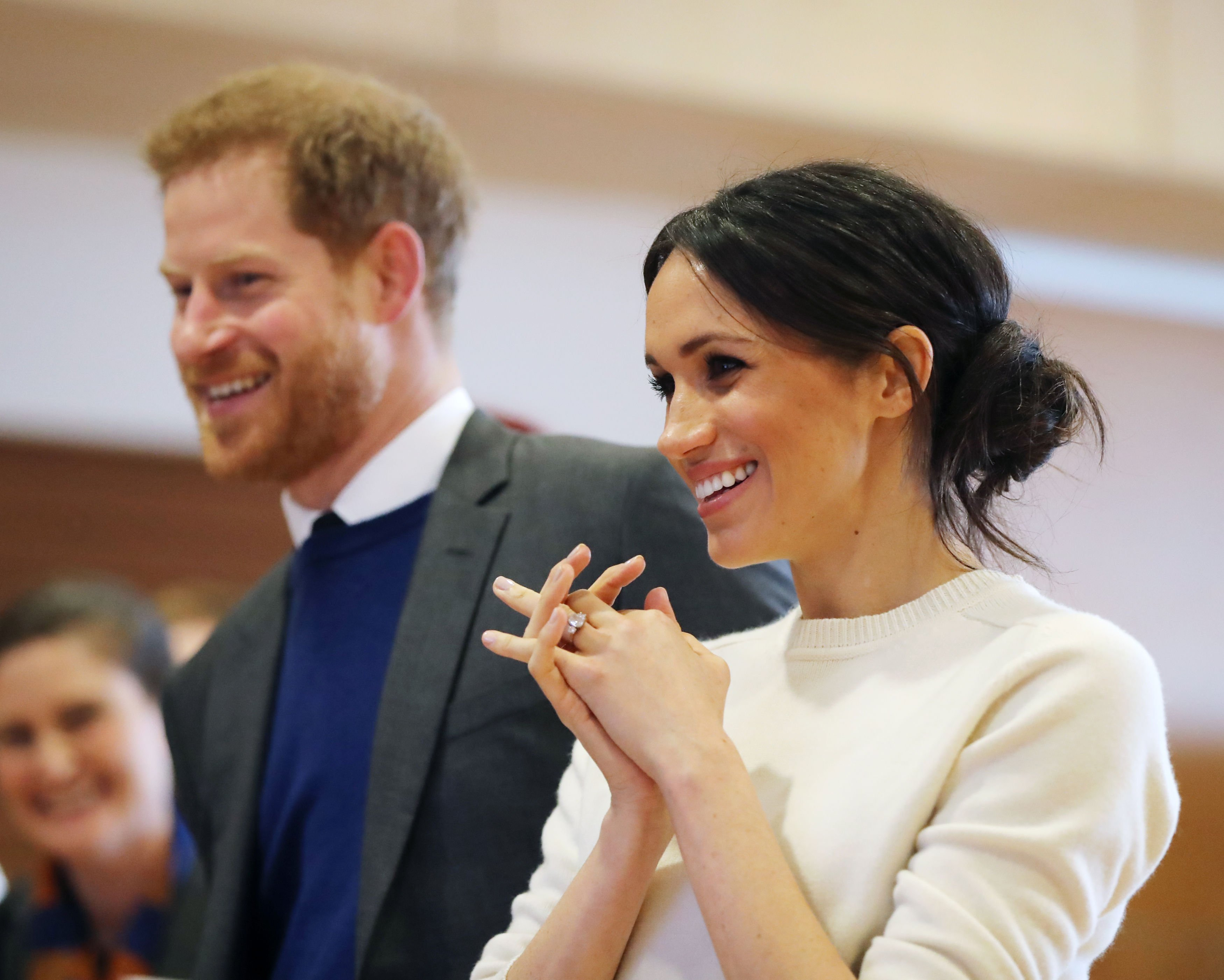 Image Credits: Getty Images / Niall Carson - Pool   Prince Harry and Meghan Markle during a visit to Catalyst Inc science park in Belfast where they met some of Northern Ireland's brightest young entrepreneurs on March 23, 2018 in Belfast, Nothern Ireland.