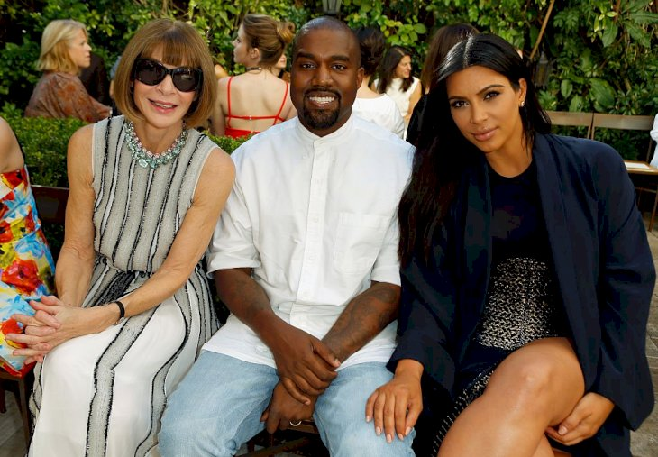 Image Credit: Getty Images / Kanye West and Kim Kardashian with Vogue boss, Anna Wintour.