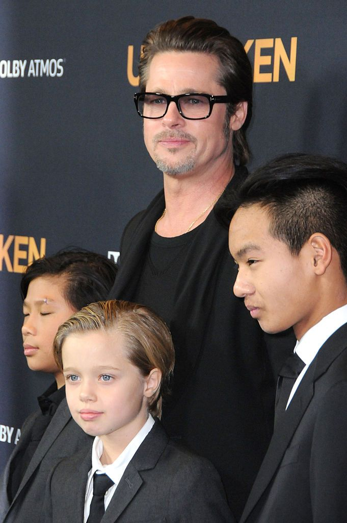 Brad Pitt Shiloh Pitt Jolie, Maddox Pitt Jolie, Pax Thien Pitt Jolie/Photo:Getty Images