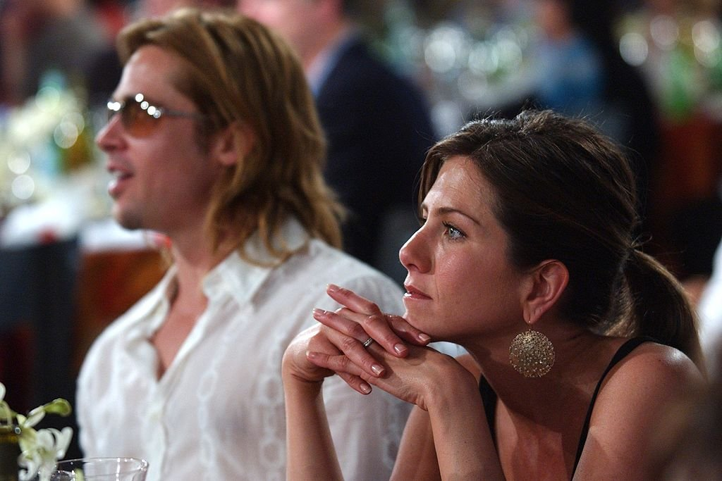 Image Credit: Getty Images / Brad Pitt and Jennifer Aniston during The 18th Annual IFP Independent Spirit Awards - Show at Santa Monica Beach in Santa Monica.