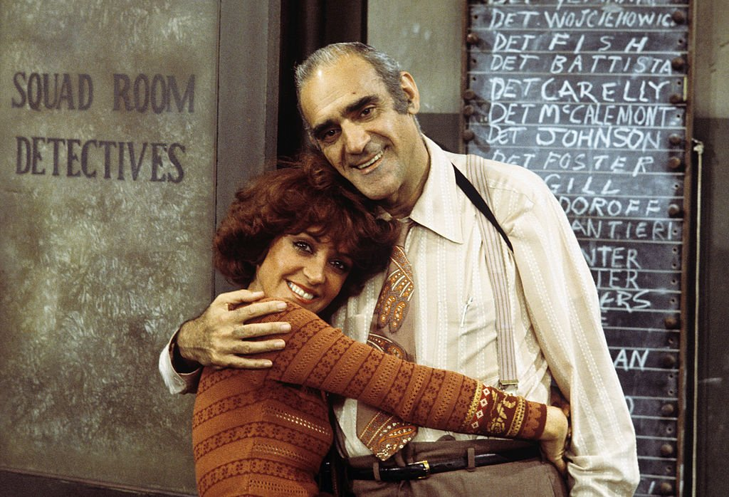 Image Credit: Getty Images / June Gable, Abe Vigoda on set for Barney Miller.