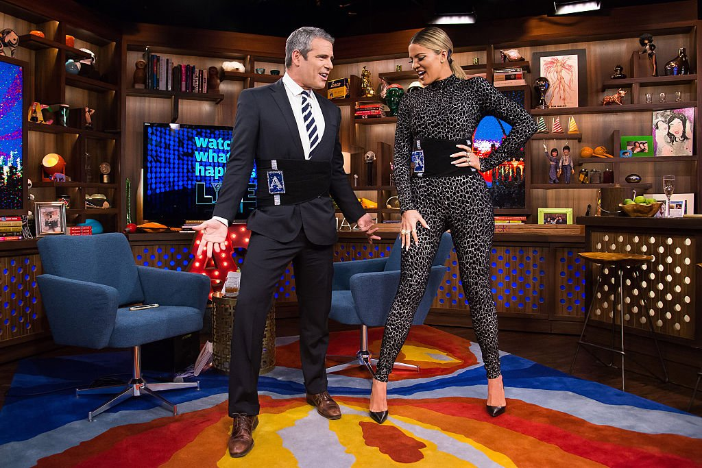 Image Credit: Getty Images / Watch What Happens Live - Season 13, pictured (l-r): Andy Cohen and Khloe Kardashian.