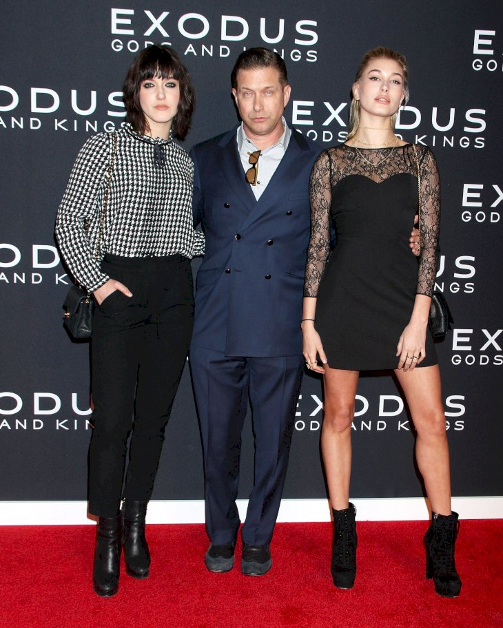 """Alaia Baldwin, Stephen Baldwin and Hailey Baldwin attend the """"Exodus: Gods And Kings"""" New York Premiere at Brooklyn Museum on December 7, 2014 in New York City. (Photo by Laura Cavanaugh/FilmMagic)"""